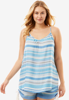 The Getaway Cami with Shirred Neckline,
