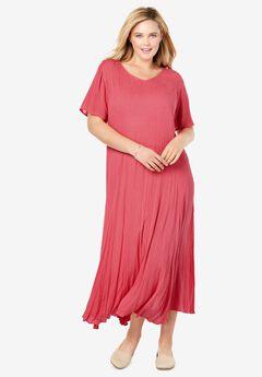 Crinkle Dress, ROSE PINK