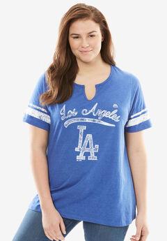 MLB® Notch V-neck tee, DODGERS, hi-res