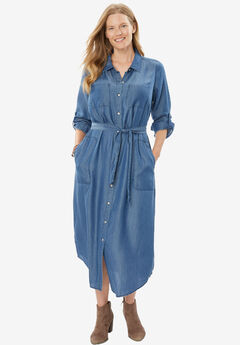 Denim Shirtdress,