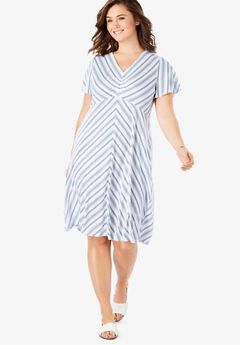 ba5eb799da5 Cinched V-Neck Tee Dress