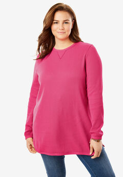 Thermal Sweatshirt, PINK GERANIUM