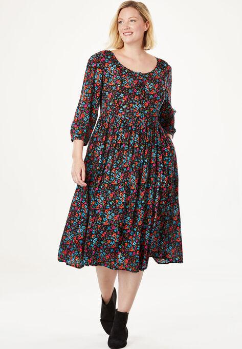 Empire Crinkle Dress