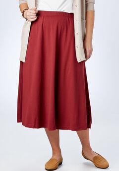 7-Day Knit A-Line Skirt, RICH BURGUNDY