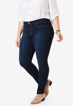 Signature by Levi Strauss & Co.™ Gold Label Women's Plus Mid-Rise Skinny Jeans, MASCARA