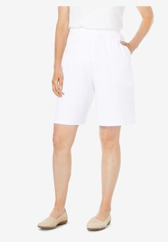 7-Day Knit Short, WHITE