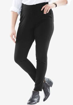 The Curvy Pull On Jegging, BLACK, hi-res