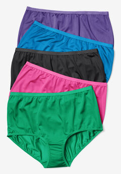 5-Pack Nylon Full-Cut Brief by Comfort Choice®, BRIGHT PACK, hi-res