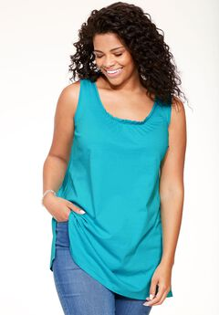 Perfect U-Neck Tunic Tank,