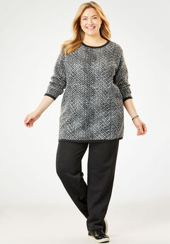 Tunic Length Fleece Sweatsuit,
