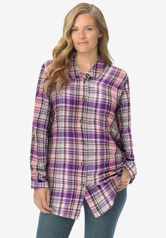 Classic Flannel Shirt, SWEET PLUM PLAID