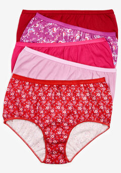 10-Pack Pure Cotton Full-Cut Brief by Comfort Choice®, WINTER FLORAL PACK