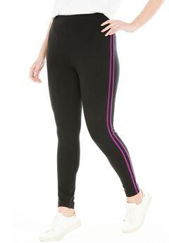 Stretch Cotton Side Stripe Legging,