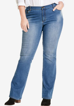 Bootcut Stretch Jean, LIGHT STONEWASH SANDED