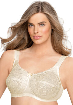 Wireless allover lace bra by Aviana® , CANDLE LIGHT, hi-res