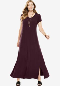 Knit maxi tee dress,