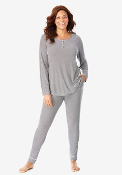 Ribbed Jogger Pajama Pants,