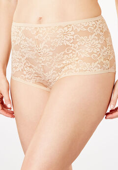 Lace Hipster Panty by Comfort Choice®, NUDE