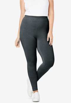 Stretch Cotton Legging, BLACK
