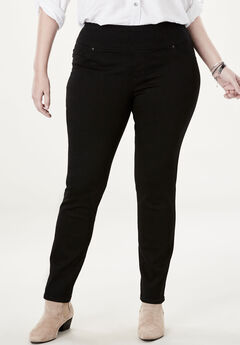 Sculpting Pull-On Jean by Lee®, BLACK