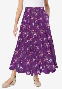 Knit Panel Skirt,