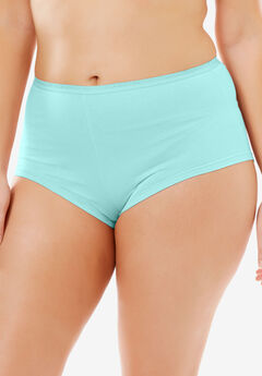 Hipster Stretch Cotton Panty By Comfort Choice®, AQUA, hi-res