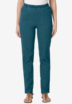 Straight Leg Fineline Jean, MIDNIGHT TEAL, hi-res