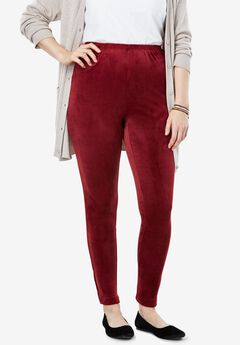 Stretch velour leggings,