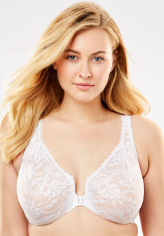 a17a436227 Front-Hook Stretch Lace Wonderwire® Bra from Glamorise®