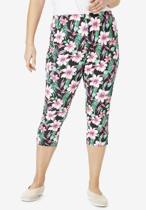 7df9222541b Stretch Cotton Printed Capri Legging