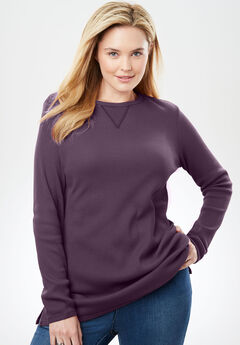 Thermal Sweatshirt, ORCHID PURPLE