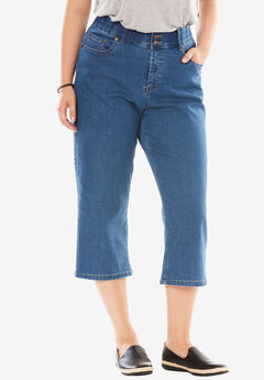 Tummy Tamer Capri Jean, LIGHT STONEWASH, hi-res