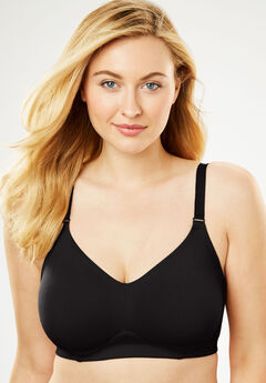 Everyday Embrace Wireless Back Smoothing Bra by Comfort Choice®, BLACK
