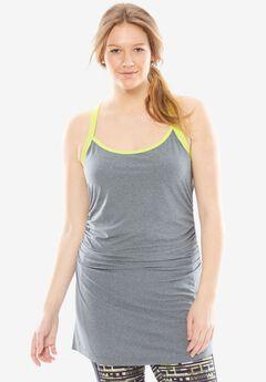 Long yoga halter tank by fullbeauty SPORT®,