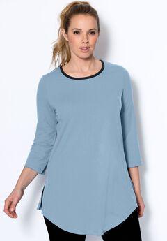 Scoop neck tunic by fullbeauty SPORT®,