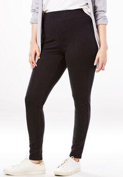 Sweatshirt Legging, HEATHER BLACK, hi-res