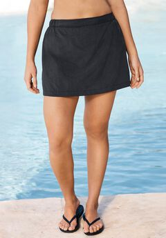 Taslon® Coverup Skirt with Built-In Brief,