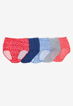 10-Pack Pure Cotton Full-Cut Brief by Comfort Choice®, WINTER PACK