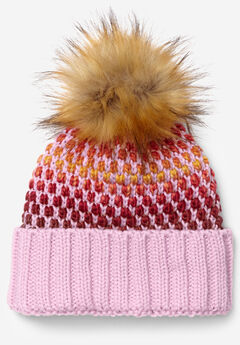 Pom-Pom Sweater Knit Beanie,