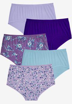 Details about  /NWT Plus Women/'s Briefs 4 pairs 100/% Cotton Pretty Colors Underwear 4 X