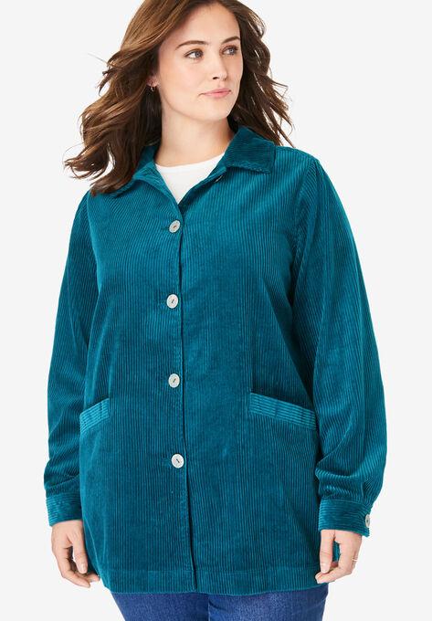 b0a0de325a Pleat-Back Corduroy Jacket  Plus Size Jackets   Woman Within