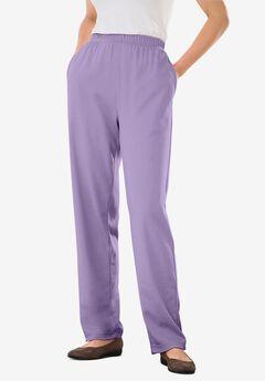7-Day Knit Straight Leg Pant, SOFT IRIS
