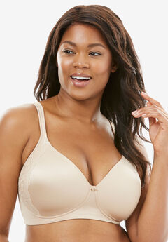 Bali® One Smooth U® Lace Side Sling Wirefree Bra #6546,