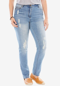 Stretch Skinny Jean, DISTRESSED