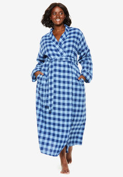 Long Flannel Robe by Dreams & Co.®,