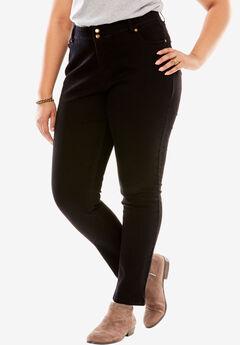 Tummy Tamer Skinny Jean, BLACK DENIM, hi-res