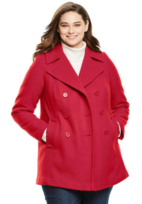 dbbaf0e30c863 Wool-Blend Double-Breasted Peacoat