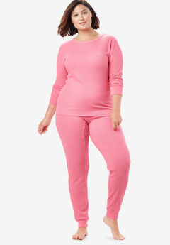 Thermal Lounge Pant , DAZZLING PINK
