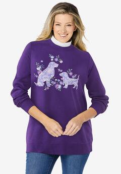 Layered-Look Sweatshirt,