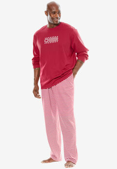 The Family Festive PJ Set for Him by Dreams & Co.®, CLASSIC RED STRIPE, hi-res